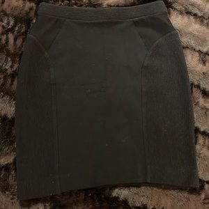 Madewell Black Stretch Mini Skirt, Size XS